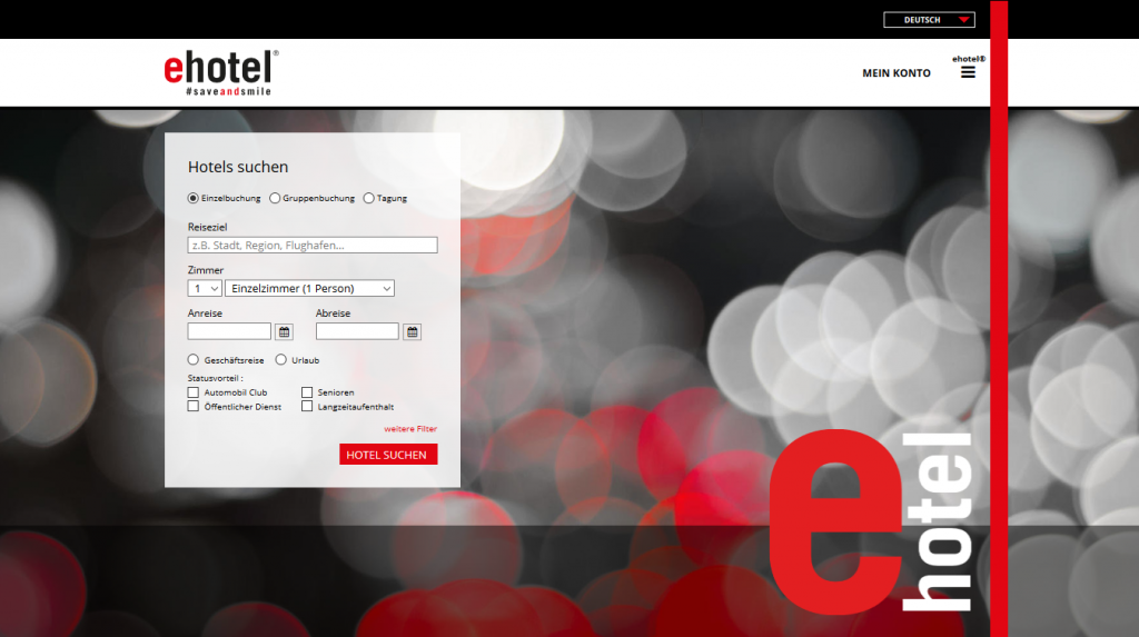 Search Centric Design bei ehotel