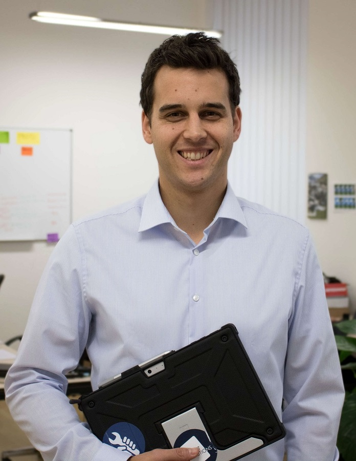Benjamin Schwärzler, CEO von TabletSolutions