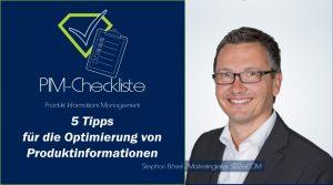 PIM-Checkliste von SDZeCOM: 5 Tipps für die Optimierung von Produktinformationen