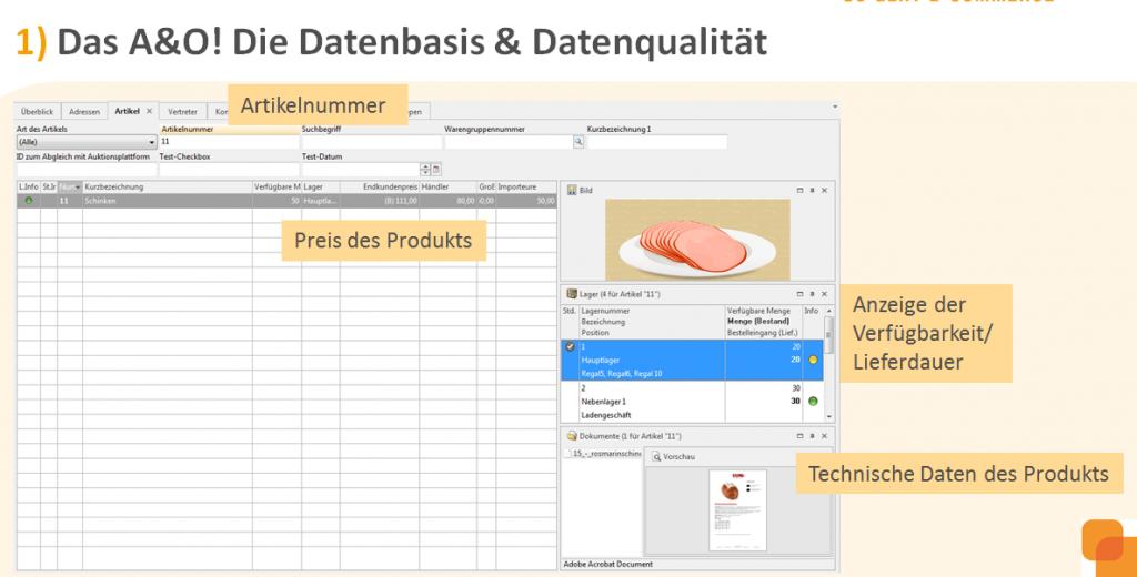 1) Die Datenbasis und die Datenqualität
