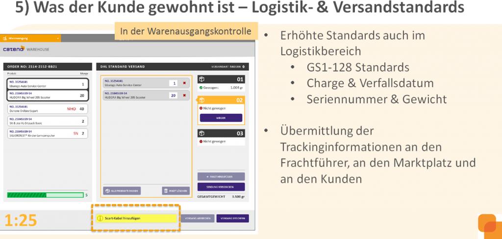5) Was der Kunde gewohnt ist: Logistik- und Versandstandards