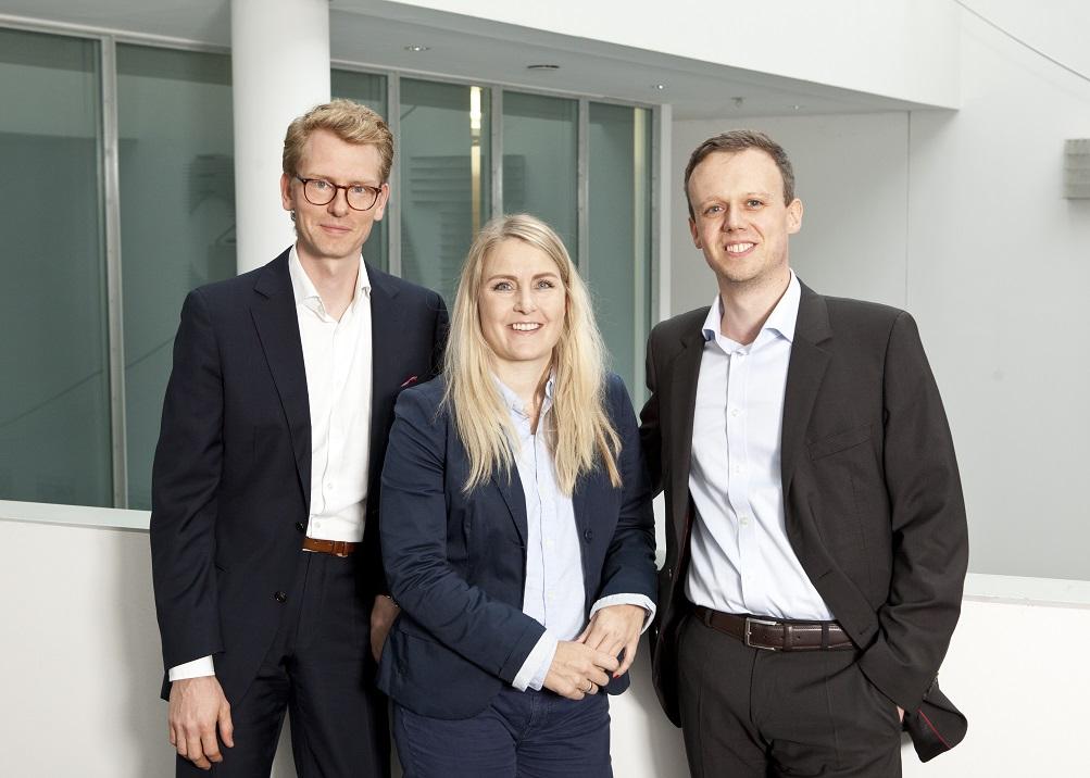 """Gründerteam"""" von ODION (von links nach rechts: Malte Jacobi (techn. Geschäftsführer), Meike Hofmann (Leitung Marketing und Vertrieb), Thomas Butterbach (kaufm. Geschäftsführer)"""