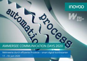 AMMERSEE COMMUNICATION DAYS 2020 – Mehrwerte durch effiziente Prozesse