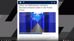 Video: Diese vier Maßnahmen schützen Business-kritische Daten in der Public Cloud